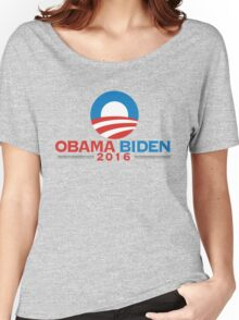 Obama-Biden 2016 Presidential Re-Election Campaign Gear Women's Relaxed Fit T-Shirt