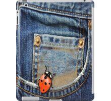 Blue Jeans Lady Bug iPad Case/Skin
