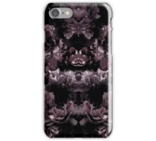 Black and Purple Mirrored Floral Pattern iPhone Case/Skin