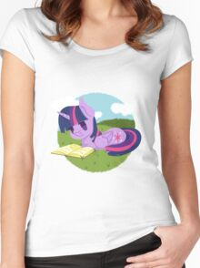 Princess Twilight Sparkle Reading Women's Fitted Scoop T-Shirt