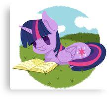 Princess Twilight Sparkle Reading Canvas Print