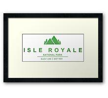 Isle Royale National Park, Michigan Framed Print