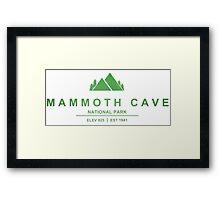 Mammoth Cave National Park, Kentucky Framed Print