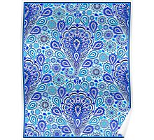 """""""PAISLEY ART DECO FLOWERED: Colorful Print Poster"""