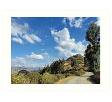 High mountain Peru Art Print