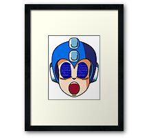 Mega Man Blue Screen Framed Print