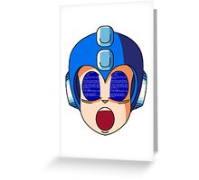 Mega Man Blue Screen Greeting Card