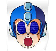 Mega Man Blue Screen Poster