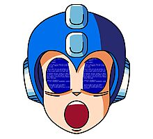 Mega Man Blue Screen Photographic Print