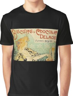 'Biscuits and Chocolat Delacre' by Privat Livemont (Reproduction) Graphic T-Shirt