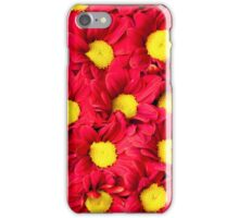 Red Gerbera flowers background iPhone Case/Skin