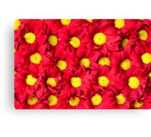 Red Gerbera flowers background Canvas Print