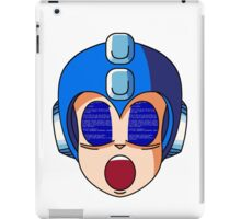 Mega Man Blue Screen iPad Case/Skin