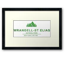 Wrangell–St. Elias National Park, Alaska Framed Print