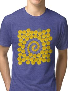 Daisy Mixture - Yellow and Pink Tri-blend T-Shirt