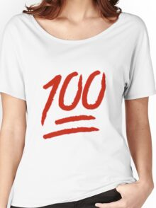 100 Emoji Logo Women's Relaxed Fit T-Shirt