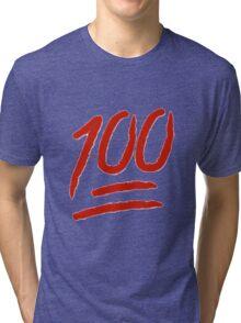 100 Emoji Logo Tri-blend T-Shirt