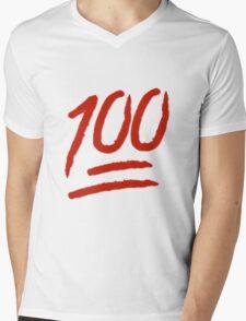 100 Emoji Logo Mens V-Neck T-Shirt