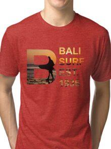 Bali Surf Est. 1936 (Rectangular) Tri-blend T-Shirt