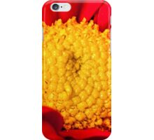 Red and yellow Gerbera flower macro shot iPhone Case/Skin