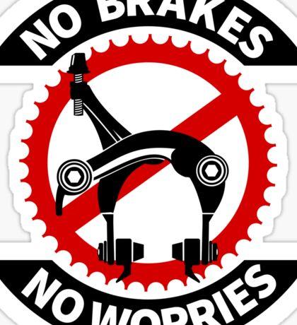 No Brakes No Worries Sticker