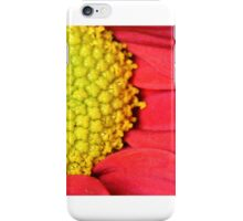 Red and yellow Gerbera flower macro shot iPhone Case/Skin