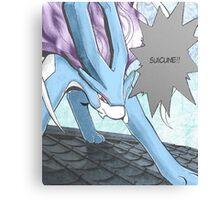 Suicune Manga Edit Canvas Print