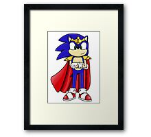 King Sonic the Hedgehog Framed Print