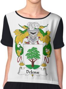 DeJesus Coat of Arms/Family Crest Chiffon Top