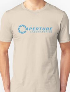 aperture laboratories - light blue Unisex T-Shirt
