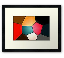 Shapes and Colours Framed Print