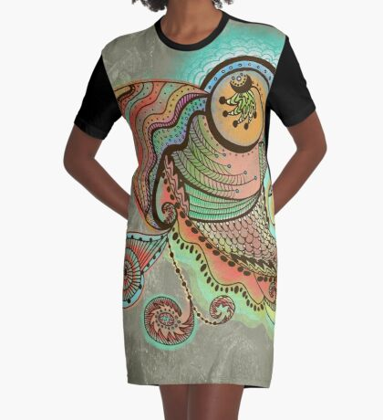 Cornucopia Graphic T-Shirt Dress