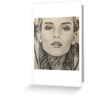 California- Pencil Portrait Greeting Card