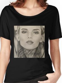 California- Pencil Portrait Women's Relaxed Fit T-Shirt