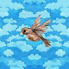 Bird In Flight Watercolor by T-ShirtsGifts