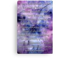 Lucid Dreaming Affirmations Canvas Print