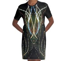 Neon Abstract One Graphic T-Shirt Dress