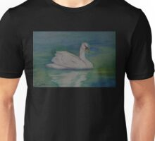 A Single Swan a Swimming WC151022-13 Unisex T-Shirt