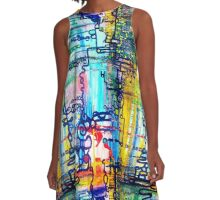 Emergent order - sharp borderless fabric pattern A-Line Dress