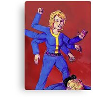 Fallout: Black Widow Perk Canvas Print