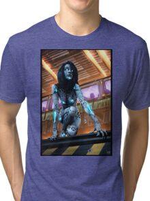 Cyberpunk Painting 075 Tri-blend T-Shirt