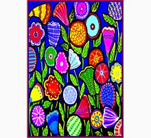 """""""ABSTRACT ART DECO FLOWERS"""" Colorful Print Unisex T-Shirt"""