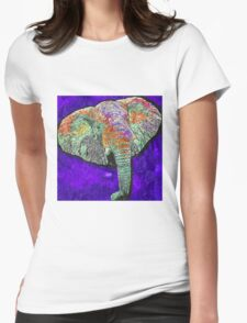 Elephant of a different color Womens Fitted T-Shirt