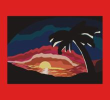 Tropical Sundown One Piece - Short Sleeve
