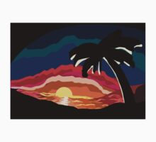 Tropical Sundown Kids Tee