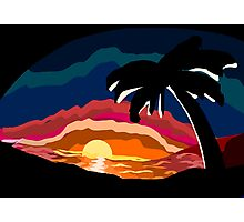 Tropical Sundown Photographic Print
