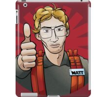 Radar Technician Matt iPad Case/Skin