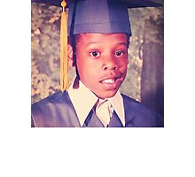 Jay-Z or Young Shawn Carter Graduation Pic Photographic Print