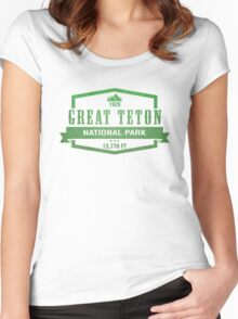 Grand Teton National Park, Wyoming Women's Fitted Scoop T-Shirt