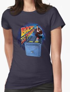 Time and Space Surfer Womens Fitted T-Shirt